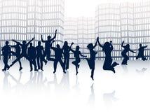 Cidade e povos Foto de Stock