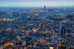 Cidade e skyline de Osaka Imagens de Stock