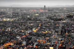 Cidade e skyline de Osaka Imagem de Stock