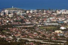 Cidade e subúrbios de Wollongong Foto de Stock