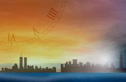 Cidade e tempo? Imagem de Stock
