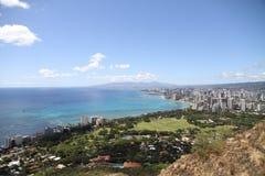 Cidade e vista para o mar Imagens de Stock Royalty Free