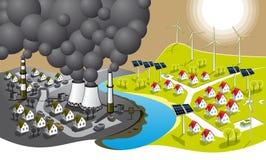 Cidade Eco-friendly ilustração royalty free