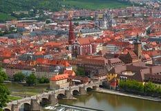 Cidade em Baviera, Alemanha de Wurzburg fotografia de stock