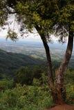 Cidade em montanhoso, cidade em Tailândia, DoiSuthep, Chiengmai imagem de stock