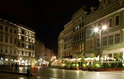 Cidade em nigh Fotografia de Stock Royalty Free