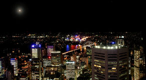 Cidade em a noite 05 Fotos de Stock