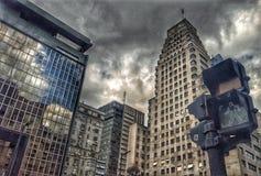 A cidade escura fotografia de stock royalty free