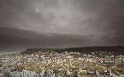 Cidade escura Foto de Stock Royalty Free
