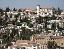 A cidade espanhola de Granada do Alhambra fotos de stock royalty free