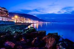Cidade espectral do beira-mar Imagem de Stock