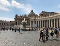 Cidade Estado do Vaticano em Roma Itália Foto de Stock Royalty Free