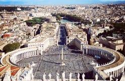 Cidade Estado do Vaticano em Roma, vista da abóbada Foto de Stock Royalty Free