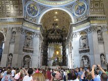 19 06 2017, Cidade Estado do Vaticano: Interior da catedral do ` s de Saint Paul com c Imagens de Stock