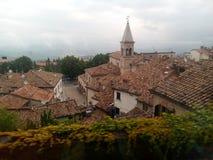 A cidade-estado medieval de São Marino no Apennines sob a prote??o do UNESCO fotografia de stock