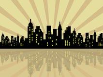 Cidade estilizado Fotos de Stock