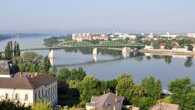 Cidade Esztergom, Hungria fotografia de stock