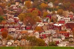 Cidade EUA do rio Fotografia de Stock Royalty Free