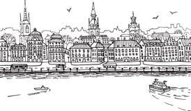 Cidade europeia 1 Fotografia de Stock Royalty Free