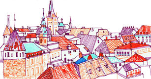 Cidade europeia Tallinn, capital de Estônia Fotografia de Stock Royalty Free