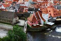 A cidade famosa, Cesky Krumlov Imagens de Stock Royalty Free