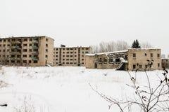 Cidade fantasma abandonada Skrunda - 1 Imagens de Stock