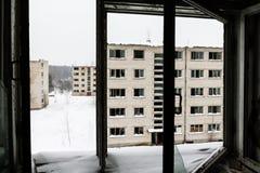 Cidade fantasma abandonada Skrunda - 1 Imagem de Stock