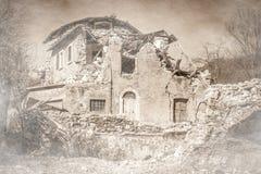 Cidade fantasma após o terremoto de Norcia, Itália Fotografia de Stock Royalty Free