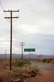 Cidade fantasma da estrada do deserto Imagem de Stock