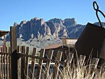 Cidade fantasma da mina da jazida de ouro, o Arizona fotos de stock royalty free