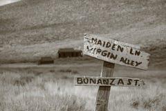 Cidade fantasma de Bodie Foto de Stock