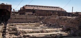 Cidade fantasma de Humberstone, deserto de Atacama, o Chile Fotografia de Stock