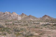 Cidade fantasma, deserto de Nevada fotografia de stock