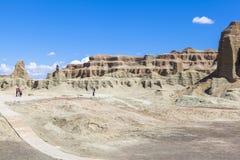 Cidade fantasma do mundo em Xinjiang Foto de Stock Royalty Free