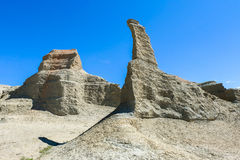 Cidade fantasma do mundo em Xinjiang Foto de Stock