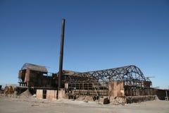 Cidade fantasma em Norte grandioso, o Chile Fotos de Stock Royalty Free