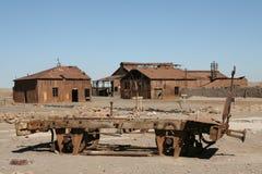 Cidade fantasma no deserto de Atacama, o Chile Fotos de Stock Royalty Free