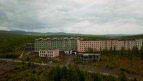 Cidade fantasma Rússia de Kadykchan vídeos de arquivo