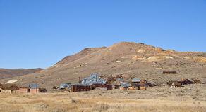Cidade fantasma velha da mineração em América ocidental imagem de stock