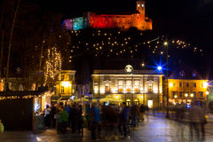Cidade festiva Imagens de Stock Royalty Free