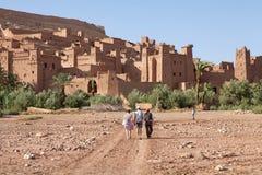 Cidade fortificada de AIT Benhaddou Fotos de Stock Royalty Free