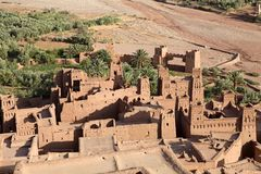 Cidade fortificada de AIT Benhaddou Imagem de Stock