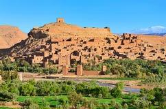 Cidade fortificada em Marrocos, África. Fotografia de Stock Royalty Free