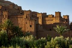 A cidade fortificada magnífica de Ait Benhaddou em Marrocos Fotografia de Stock