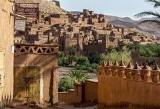 A cidade fortificada magnífica de Ait Benhaddou em Marrocos Imagens de Stock