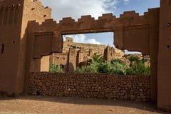 A cidade fortificada magnífica de Ait Benhaddou em Marrocos Fotos de Stock Royalty Free