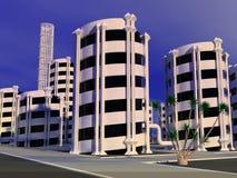 Cidade futura Foto de Stock Royalty Free