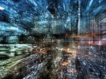 Cidade futura Imagem de Stock Royalty Free
