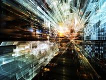 Cidade futura Imagens de Stock