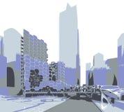 Cidade futura Fotografia de Stock